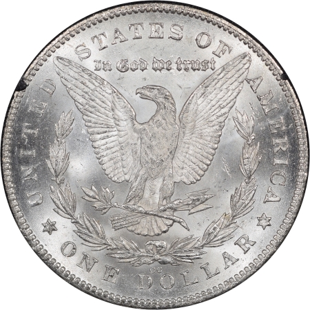 New Certified Coins 1880-CC REVERSE OF 1878 MORGAN DOLLAR, 80/79, GSA BOX/CARD NGC MS-63 BLAST WHITE