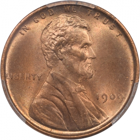 New Certified Coins 1909 LINCOLN CENT PCGS MS-65 RD, BLAZING RED & LUSTROUS