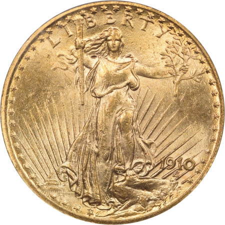New Certified Coins 1910 $20 ST GAUDENS GOLD PCGS MS-63 PQ!