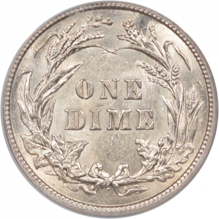 New Certified Coins 1913 BARBER DIME ANACS AU-58