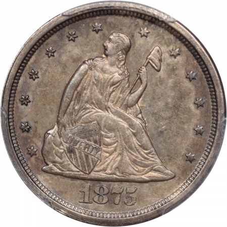 Coin World/Numismatic News Featured Coins 1875-S TWENTY CENT PIECE PCGS AU-58 PQ!