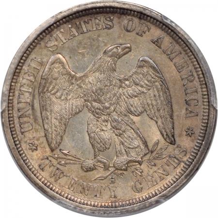 Twenty Cent Pieces 1875-S TWENTY CENT PIECE PCGS AU-58 PQ!