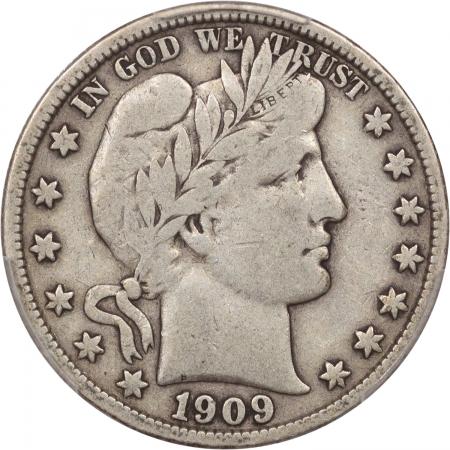 New Certified Coins 1909-S BARBER HALF DOLLAR PCGS VF-20, ORIGINAL BOLD LIBERTY