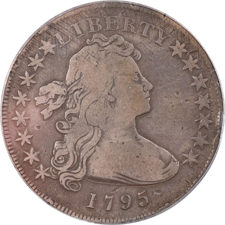 Early Dollars 1795 DRAPED BUST DOLLAR – OFF CENTER PCGS VG-10 PQ! LOOKS FULL FINE!