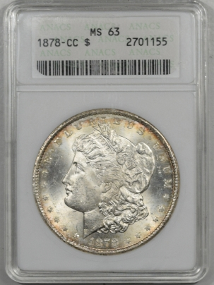 Morgan Dollars 1878-CC MORGAN DOLLAR ANACS MS-63