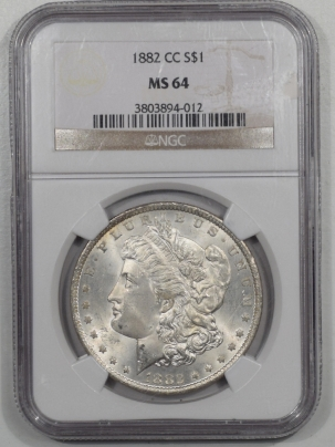 Morgan Dollars 1882-CC MORGAN DOLLAR NGC MS-64