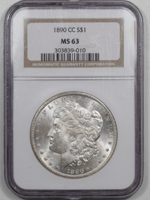 Morgan Dollars 1890-CC MORGAN DOLLAR NGC MS-63