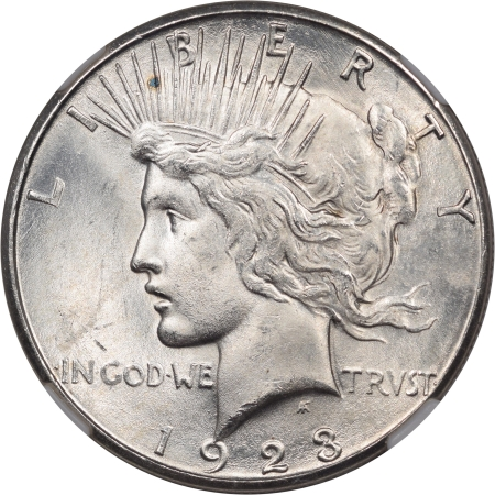 Peace Dollars 1923-S PEACE DOLLAR NGC MS-63 WHITE!