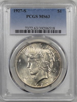 Coin World/Numismatic News Featured Coins 1927-S PEACE DOLLAR PCGS MS-63