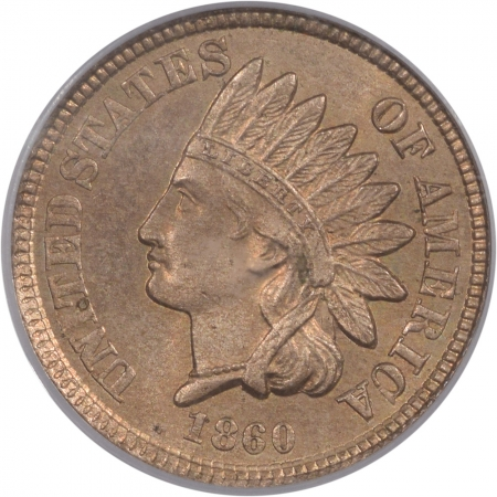 Coin World/Numismatic News Featured Coins 1860 INDIAN CENT PCGS MS-63 PQ! & MS-64 QUALITY OLD GREEN HOLDER!