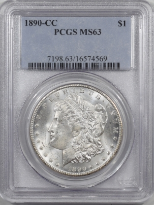Coin World/Numismatic News Featured Coins 1890-CC MORGAN DOLLAR PCGS MS-63 FLASHY!