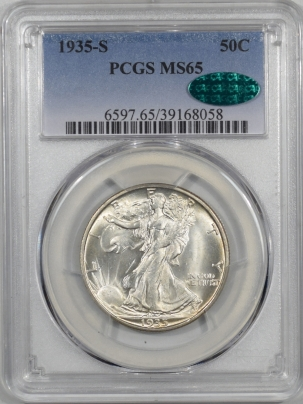 CAC Approved Coins 1935-S WALKING LIBERTY HALF DOLLAR PCGS MS-65 CAC APPROVED!