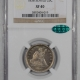 Coin World/Numismatic News Featured Coins 1878-CC LIBERTY SEATED 25c, PCGS MS-62 LUSTROUS & PQ!