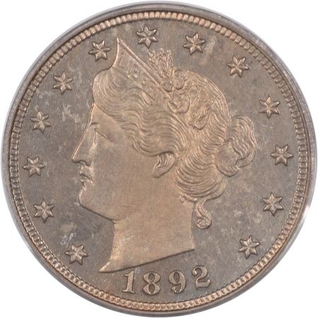 Coin World/Numismatic News Featured Coins 1892 LIBERTY NICKEL, PCGS PR-63, OGH & REALLY PQ!