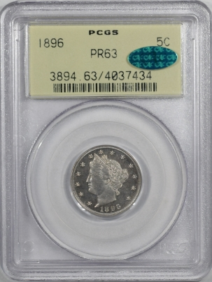Coin World/Numismatic News Featured Coins 1896 LIBERTY NICKEL, PCGS PR-63, CAC, OGH & REALLY PQ!