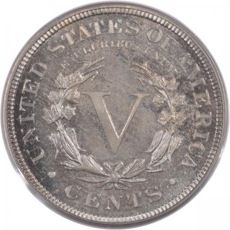 Liberty Nickels 1896 LIBERTY NICKEL, PCGS PR-63, CAC, OGH & REALLY PQ!