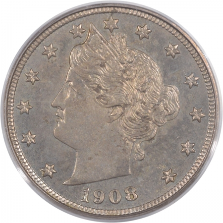 Coin World/Numismatic News Featured Coins 1908 LIBERTY NICKEL, PCGS PR-63, OGH & REALLY PQ!