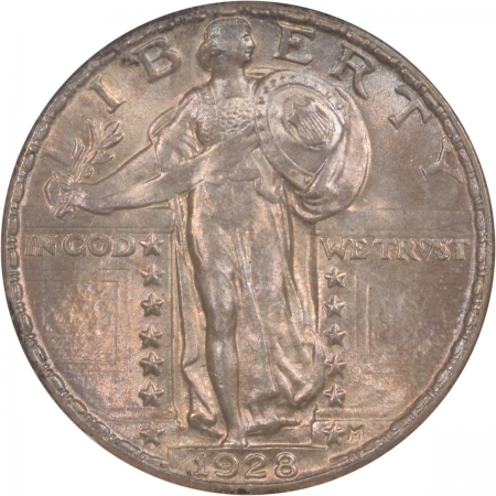 Coin World/Numismatic News Featured Coins 1928 STANDING LIBERTY QUARTER, NGC MS-65, OLD FATTY HOLDER, ORIGINAL & PQ!