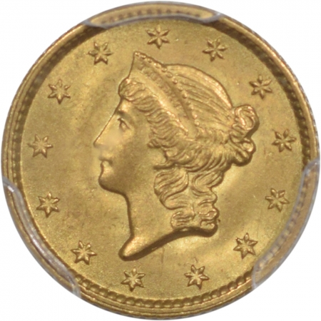 CAC Approved Coins 1853 $1 GOLD DOLLAR PCGS MS-65 PRISTINE PQ, GEM. CAC APPROVED