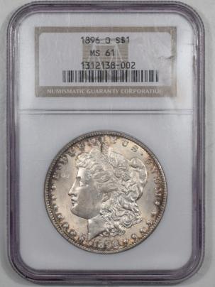 Morgan Dollars 1896-O MORGAN DOLLAR NGC MS-61