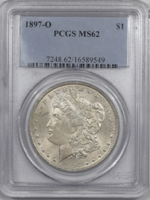 Morgan Dollars 1897-O MORGAN DOLLAR PCGS MS-62