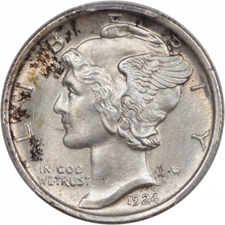 New Certified Coins 1924 MERCURY DIME PCGS MS-65 FB