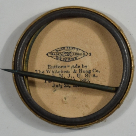 Other Collectibles 1904 1 1/4″ Parker Celluloid Pinback w/ Name and Gold Background Near-Mint