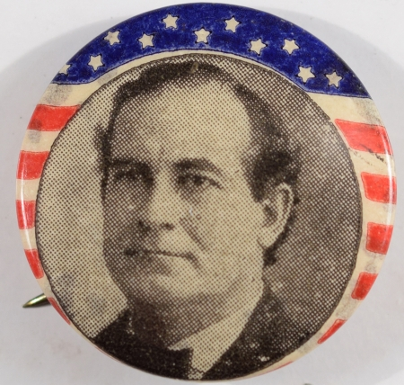 Other Collectibles 1900 WILLIAM JENNINGS BRYAN 7/8″ R/W/B PICTURE CAMPAIGN BUTTON MINT
