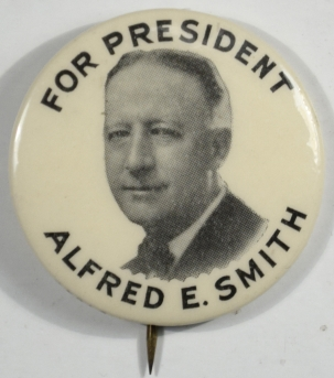 "Other Collectibles 1928 RARE AL SMITH 1 1/2"" PICTORIAL FOR PRESIDENT CAMPAIGN BUTTON MINT"