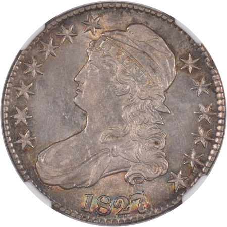 New Certified Coins 1827/6 CAPPED BUST HALF DOLLAR NGC AU-55, PRETTY & ORIGINAL!