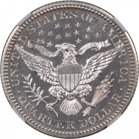 Coin World/Numismatic News Featured Coins 1907 PROOF BARBER QUARTER NGC  PF-65 CAMEO, BLACK & WHITE!