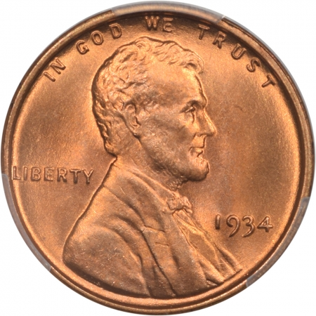 Coin World/Numismatic News Featured Coins 1934 LINCOLN CENT, PCGS MS-67+ RD, CAC, SUPER-PQ & TRYING SO HARD TO BE A MS-68!