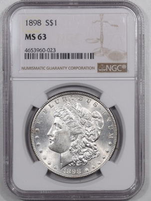 Coin World/Numismatic News Featured Coins 1898 MORGAN DOLLAR NGC MS-63 WHITE