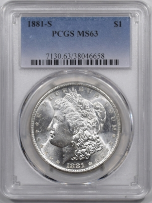 Coin World/Numismatic News Featured Coins 1881-S MORGAN DOLLAR PCGS MS-63 WHITE