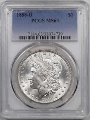 Coin World/Numismatic News Featured Coins 1888-O MORGAN DOLLAR PCGS MS-63 WHITE