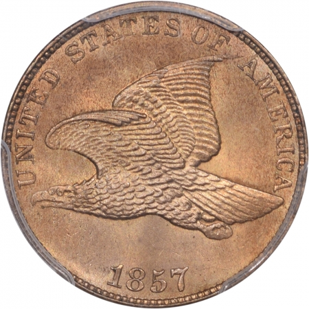 Flying Eagle 1857 FLYING EAGLE CENT PCGS MS-65