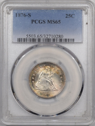 Coin World/Numismatic News Featured Coins 1876-S SEATED LIBERTY QUARTER PCGS MS-65 PRETTY