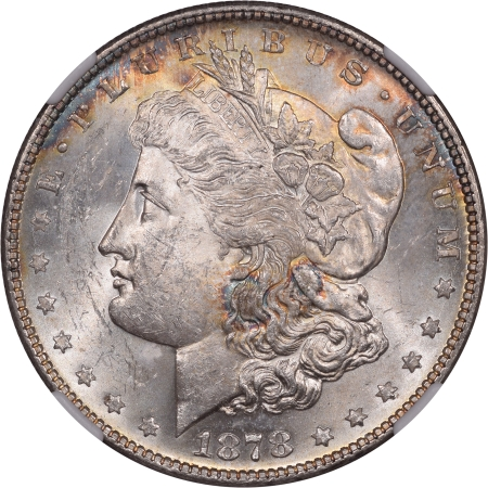 New Certified Coins 1878 7/8TF MORGAN DOLLAR STRONG NGC MS-62