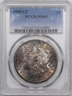 Morgan Dollars 1885-CC MORGAN DOLLAR PCGS MS-65 ORIGINAL GSA TONED