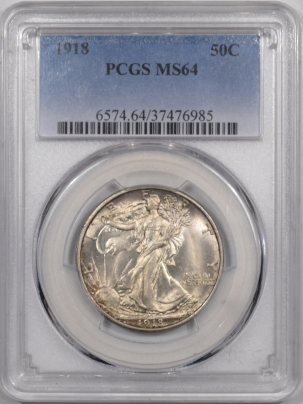 Coin World/Numismatic News Featured Coins 1918 WALKING LIBERTY HALF DOLLAR PCGS MS-64