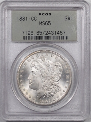 New Certified Coins 1881-CC MORGAN DOLLAR PCGS MS-65 PREMIUM QUALITY! OLD GREEN HOLDER!