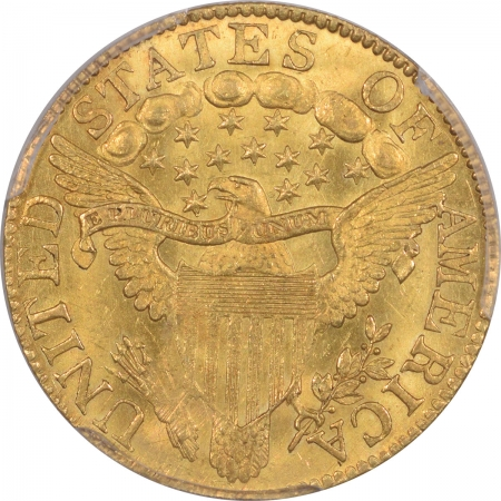 CAC Approved Coins 1803/2 $5 DRAPED BUST GOLD PCGS MS-62+, CAC, VERY FRESH & LOOKS MS-63, PQ+!