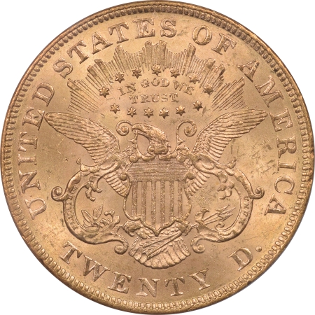 New Certified Coins 1873 TY 2 $20 LIBERTY HEAD GOLD OPEN 3 PCGS MS-60 PQ++ TWO PIECE RATTLER HOLDER!