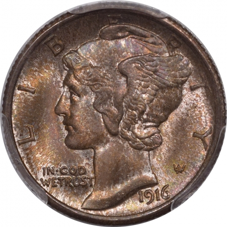 Coin World/Numismatic News Featured Coins 1916 MERCURY DIME PCGS MS-67 FB FRESH PQ! CAC APPROVED!