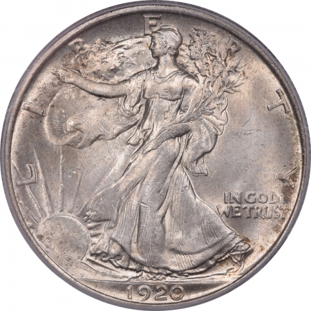 New Certified Coins 1920 WALKING LIBERTY HALF DOLLAR PCGS MS-64 FRESH PQ+ OLD GREEN HOLDER!
