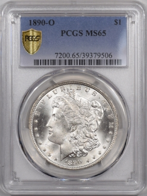 New Certified Coins 1890-O MORGAN DOLLAR PCGS MS-65 BLAZING WHITE & WELL STRUCK!