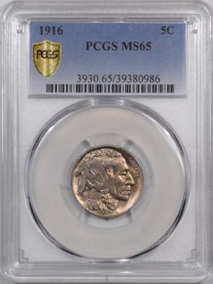 New Certified Coins 1916 BUFFALO NICKEL PCGS MS-65