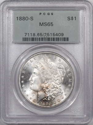 Coin World/Numismatic News Featured Coins 1880-S MORGAN DOLLAR – PCGS MS-65, PREMIUM QUALITY! OLD GREEN HOLDER