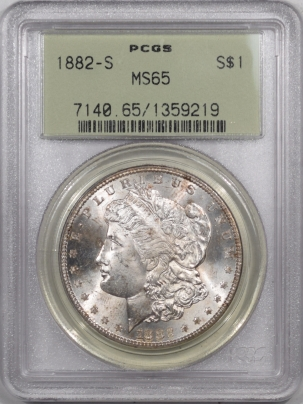Coin World/Numismatic News Featured Coins 1882-S MORGAN DOLLAR  – PCGS MS-65, PREMIUM QUALITY! OLD GREEN HOLDER