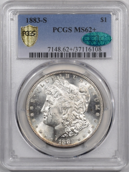 Coin World/Numismatic News Featured Coins 1883-S MORGAN DOLLAR PCGS MS-62+ CAC, BLAST WHITE, GREAT LUSTER, LOOKS 63